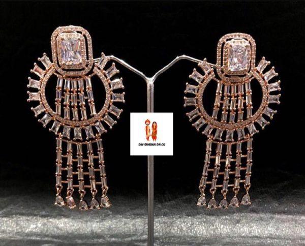 Buy American Diamond Gold Earrings Online