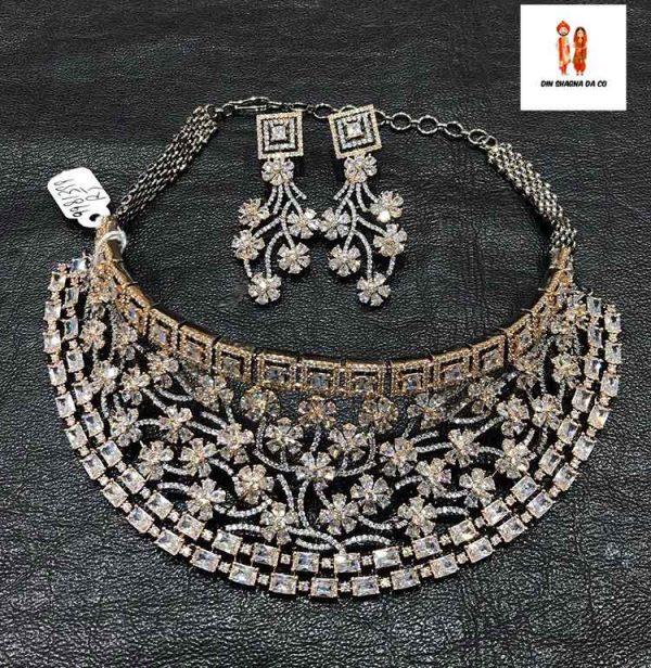 Buy American Diamond Necklace & Earrings Online