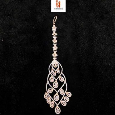Buy American Diamond Rose Gold Tikka Online