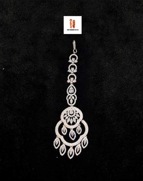 Buy American Diamond Rose Silver Tikka Online