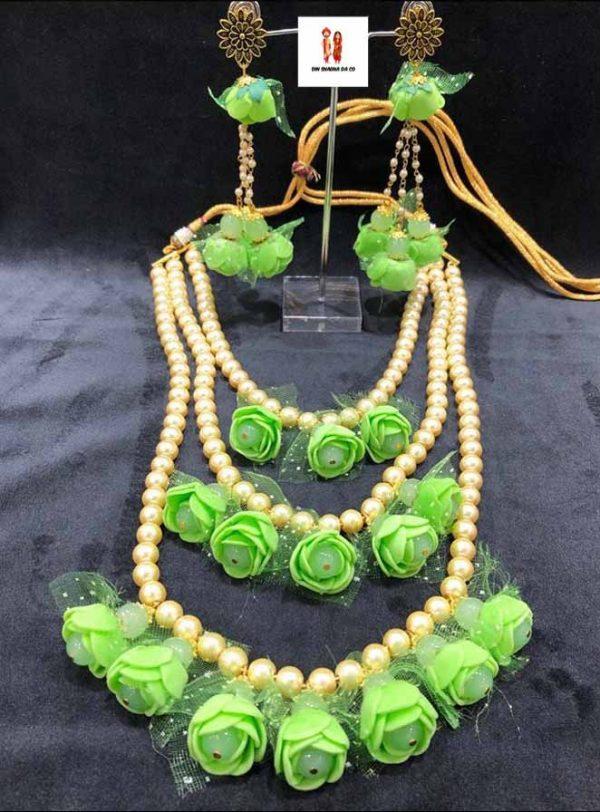 Buy Flower Jewellery with Earrings Online