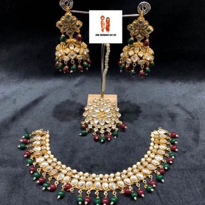 Buy Jadau Set with Earrings & Tikka Online