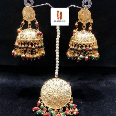 Buy Jadau Tikka with Earrings Online