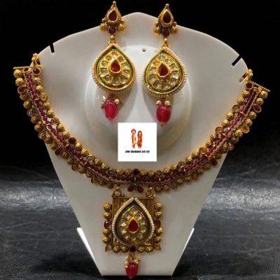 Buy Kundan Necklace with Earrings Online
