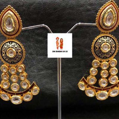 Buy Real Kundan & American Diamond Earrings Online