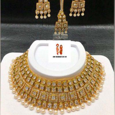 Buy Real Kundan Set with Earrings & Tikka Online