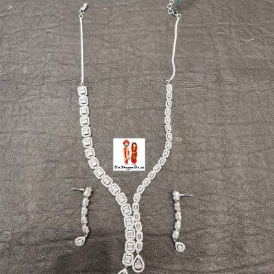 Buy American Diamond Necklace with Earrings Online