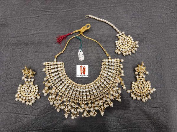 Buy Golden Necklace with Earrings Online