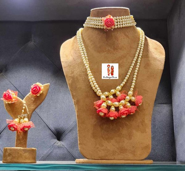 Buy Red Floral Jewellery Online