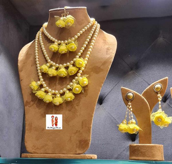 Buy Yellow Floral Jewellery Online