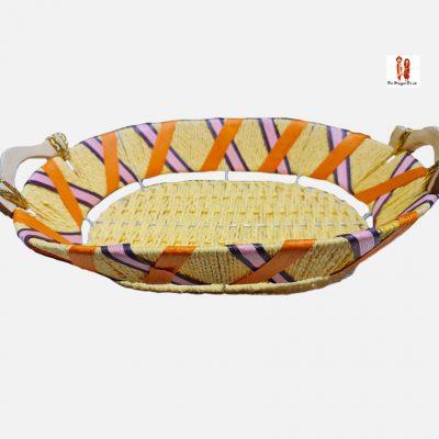 Buy Lemon Yellow Decorative Basket Online