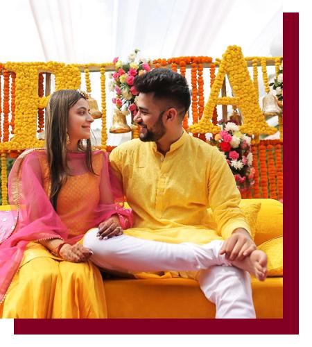 buy haldi accessories online for bride & groom